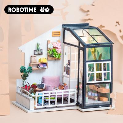 若态Robotime小房子DIY手工创意模型玩具3D立体积木拼插拼图拼装模型迷你小屋生日礼物成人 DGM05南风小憩