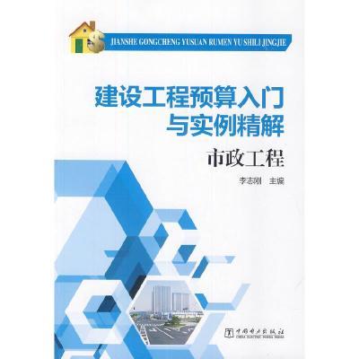 正版 建设工程预算入门与实例精解 市政工程 中国电力出版社 李志刚 主编 9787512358850 书籍