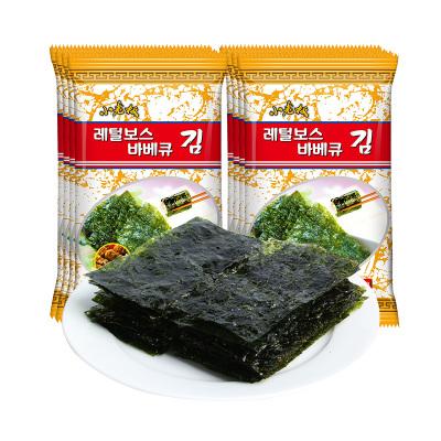 小老板海苔岩烧海苔烧烤味16g即食海苔儿童孕妇零食包饭拌饭零食