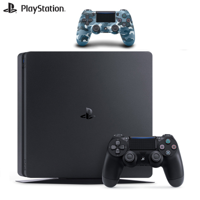 【套餐】索尼PlayStation 4 PS4 500GB国行游戏机黑色+PlayStation 4 游戏手柄迷彩蓝