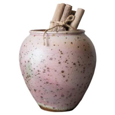 止物|景德鎮手工陶瓷花器粗陶罐大陶瓷花器花插個性古樸家居花瓶【定制】 天藍色大號 大