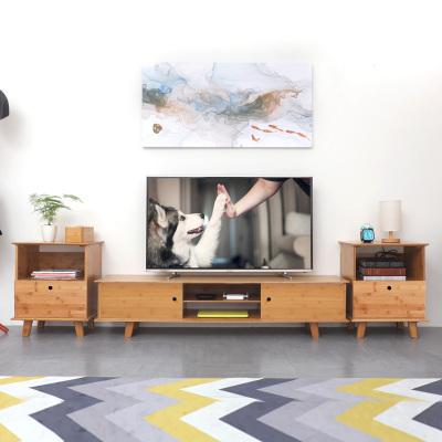 汐巖電視柜組合北歐實木地柜現代簡約小戶型客廳矮柜多功能儲藏柜