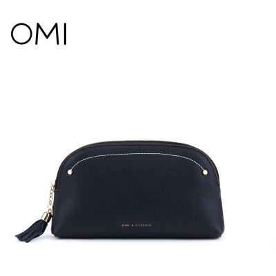歐米OMI牛皮包包女2019夏新款百搭簡約手抓包ins大容量手拿包錢包