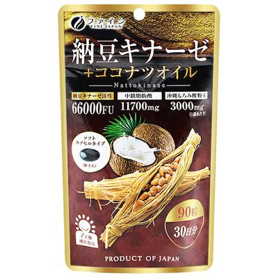 【第二件0元】FINE日本納豆激酶膠囊90粒/袋裝 片劑40.5 納豆提取物