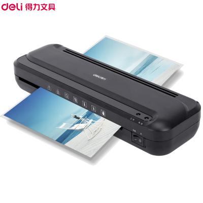 得力(deli)33939過塑機 黑色 A4熱裱辦公商品塑封機 家用壓膜機 自動相片過膠機