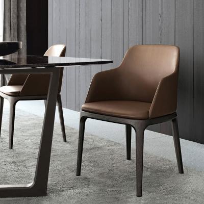 尋木匠北歐實木餐椅家用輕奢椅子靠背凳子現代簡約酒店餐廳網紅ins椅