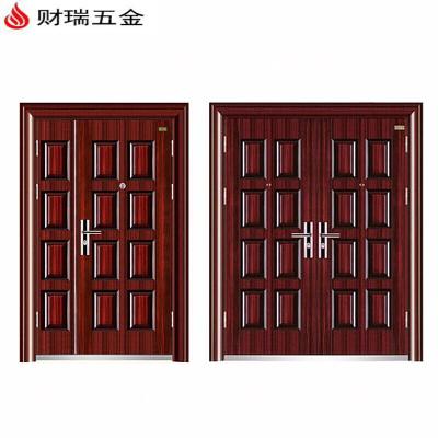 庭院別墅大門進戶門鋼質門標準門安全門鋼制子母門防盜入戶門雙開門