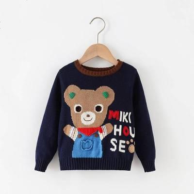 卡通秋冬装 绝版大熊舒适立体手工儿童男小童宝宝毛衣保暖运动衣