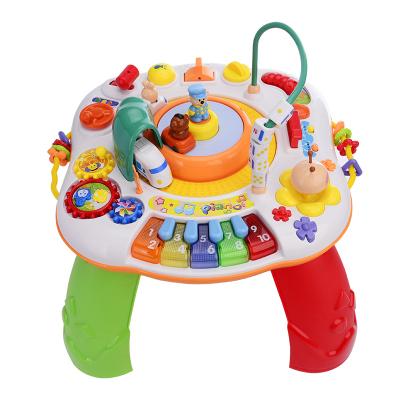 谷雨游戲桌多功能學習桌兒童玩具嬰兒玩具男孩女孩早教益智新生兒幼兒一歲寶寶1-3-6歲禮物 充電版