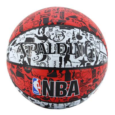 Spalding斯伯丁篮球 83-574Y 酷炫涂鸦 橡胶材质 室外用