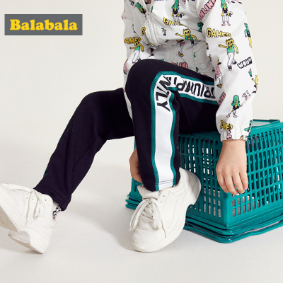 【1件5折】巴拉巴拉童装儿童裤子男童休闲裤春装2019新款宝宝洋气运动裤长裤