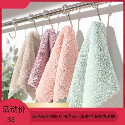 加厚抹布廚房家務清潔布基本不掉毛不沾油吸水洗碗巾擦桌子洗碗布