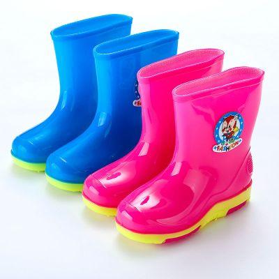 輕便寶寶雨鞋兒童女童公主可愛松鼠防滑水鞋男小童幼兒雨靴1-12歲 莎丞