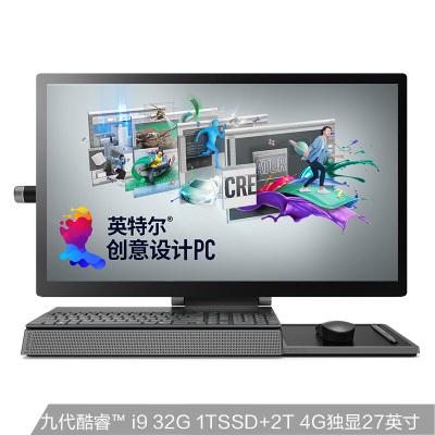 联想(Lenovo)Yoga A940 英特尔酷睿i9 创意设计一体机台式电脑27英寸(i9-9900 32G 2T+1TB SSD 4G独显 Win10 触控屏 4K屏)灰色