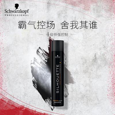 進口Schwarzkopf施華蔻絲露華發膠強力塑型啫喱500ml噴霧黑膠干膠男女頭發造型定型水針對各種發質