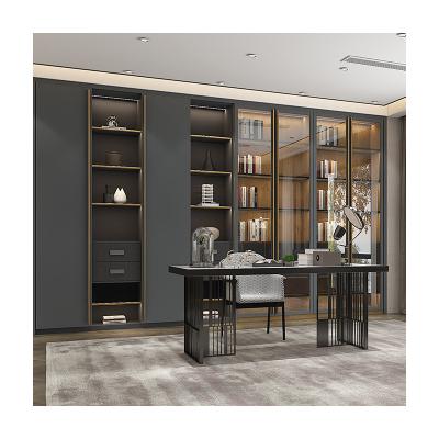拉迷全屋定制家具整體書柜書桌組合柜定制書房客廳到頂書柜書架組合儲物柜定做