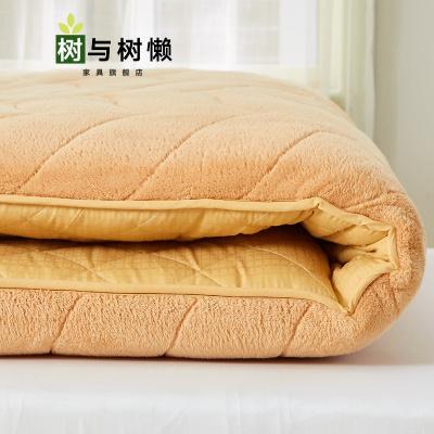 树与树懒 新品折叠床垫地铺榻榻米床垫1.5m床软垫1.8双人地铺睡垫折叠床褥子懒人床单人1.2米