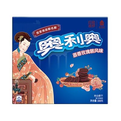 亿滋奥利奥故宫风味系列夹心饼干荔香玫瑰糕味388g