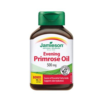 【調節女性內分泌】Jamieson 健美生 月見草油復合軟膠囊 180粒/瓶 加拿大進口 85克