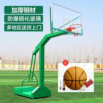 博森特 户外标准健身室外成人球篮架移动球迷用品学校训练篮球架 小箱大箱篮架 篮球框 带钢化篮板
