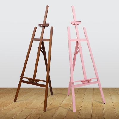 木質展架廣告展示牌kt板木制海報架子立式落地式pop支架定制水牌弧威