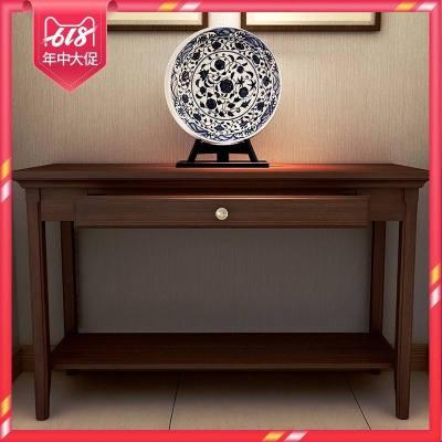 蘇寧放心購新中式玄關桌美式實木玄關柜現代簡約條案幾窄桌靠墻桌子時度(Doxa)