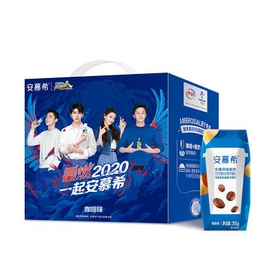 伊利 安慕希希臘風味酸奶咖啡口味205g*12盒裝
