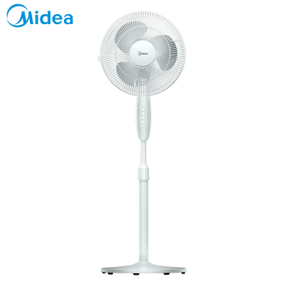 美的(Midea)電風扇FSA30YC 三片風葉 極簡外觀 廣角送風 三檔調節 家用落地扇 空調伴侶