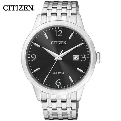 西铁城(CITIZEN)手表男士日本 时尚光动能不锈钢带休闲男表BM7300-50E
