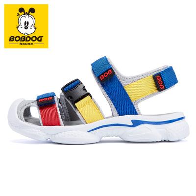 BOBDOG HOUSE巴布豆童鞋兒童涼鞋夏季中大童包頭男童女童沙灘鞋子B6211