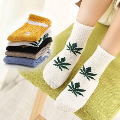 La MaxZa【五雙裝】秋冬兒童襪子男女童中大童寶寶小孩襪子0-12歲中筒襪