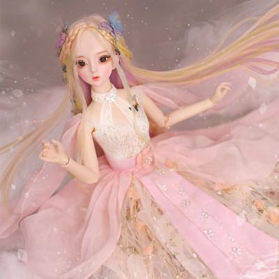 德必勝娃娃DF夢童話60厘米大芭比娃娃公主套裝大禮盒古裝娃娃改妝換裝仿真洋娃娃兒童男孩女孩玩生日禮物 顏汐DF18203