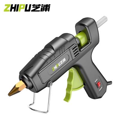 芝浦(ZHIPU)胶枪热熔胶抢胶棒家用多功能热溶胶枪儿童手工diy电热7mm11mm 【家用款】80W+30根胶棒