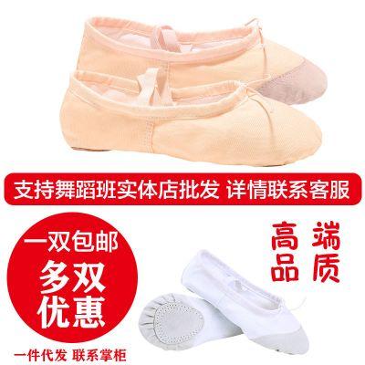 飞言成人儿童软底舞蹈鞋女童软底男舞鞋形体练功瑜伽芭蕾舞帆布猫爪鞋