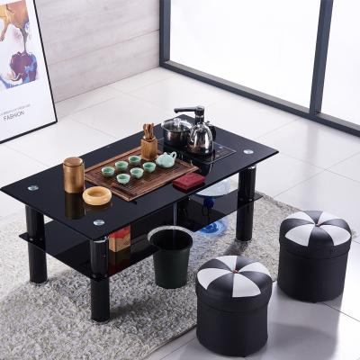 尋木匠鋼化玻璃功夫茶幾辦公室茶桌茶具套裝一體小戶型家用茶臺帶電磁爐