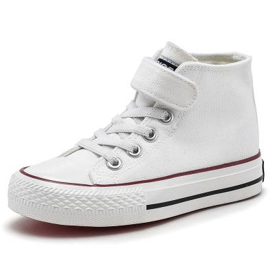 回力(Warrior)儿童高帮帆布鞋女童鞋子男童小白布鞋夏季板鞋2019春款新款潮