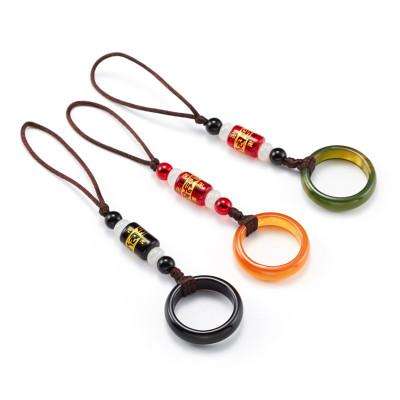 当世 指环扣手机挂绳挂脖带手机绳子短链女款个性创意男吊绳手腕绳防丢
