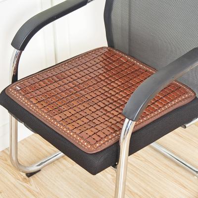 夏季麻將椅墊涼席坐墊汽車屁股座墊透氣學生電腦椅子竹墊夏天涼墊 活動款坐墊 60X60CM