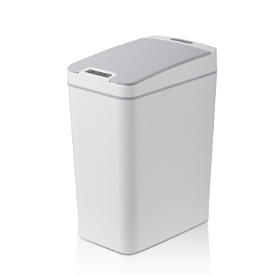 韩代智能感应垃圾桶 灰白色8L 静音开合 高密封性 家用商用酒店办公室