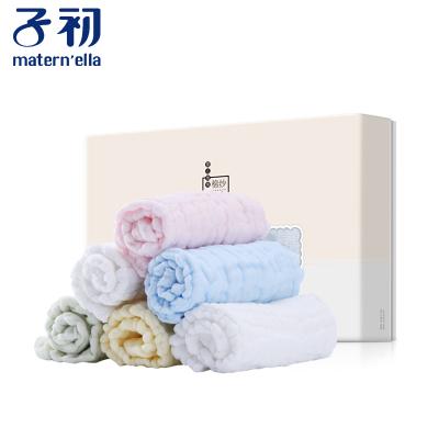 子初嬰兒泡泡棉紗方巾6條裝 寶寶純棉小方巾新生兒洗臉巾組合裝 30*30cm 6條裝