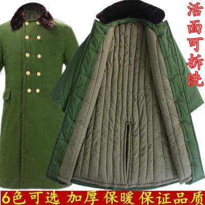 87长款加厚正品军大衣男女冬季老劳保安棉大衣军冷库可拆卸洗