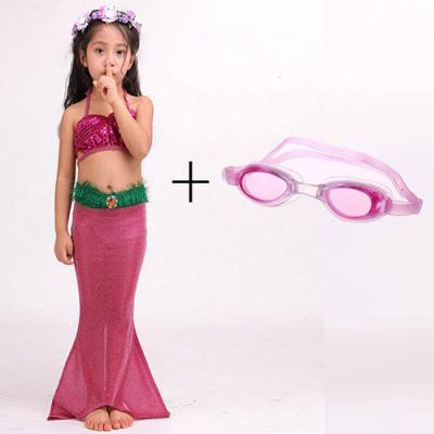 迪鲁奥(DILUAO)美人鱼尾巴儿童 女孩女童宝宝分体式套装比基尼泳衣泳装 演出服