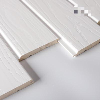 白色實木護墻板刻紋墻裙板免漆桑拿板陽臺吊頂扣板快裝集成墻板