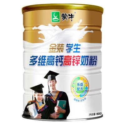蒙牛(MENGNIU)金装学生多维高钙高锌奶粉罐装900g青少年早餐冲饮乐益配方营养更全面