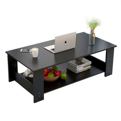 茶几桌子吃饭小桌子客厅家用茶台特价简约现代木质小户型双层茶几