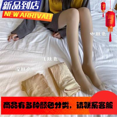加绒加厚光腿丝袜女修身显瘦美腿秋冬2019新款打底袜肉色连裤袜子