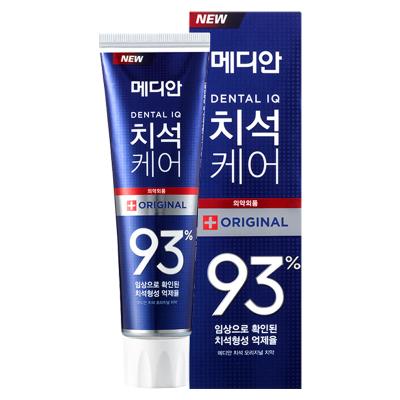MEDIAN麥迪安 清除93%牙結石 防牙石牙漬牙膏 青檸薄荷味 120g 藍色