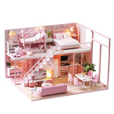 智趣屋diy小屋遇见小美好3D立体拼装模型小房子现代简约LOFT公寓送女友生日礼物情人节礼品