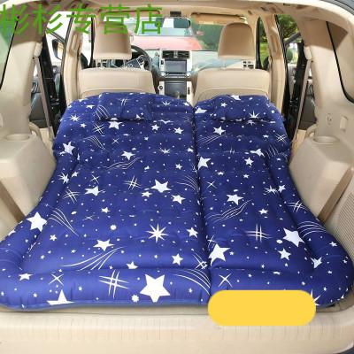 車載充氣床 哈佛H5 H6/H7/H9旅行床 后備箱床墊加長SUV車用氣墊床 【星藍色】蜂窩紋*多功能款+長條墩子