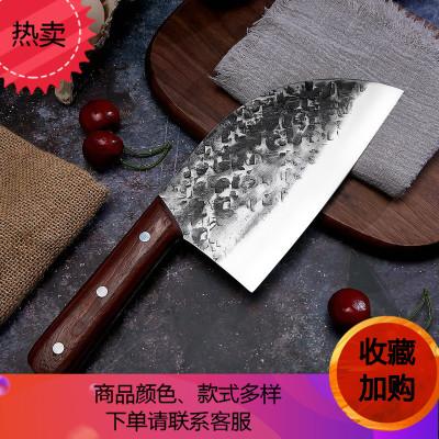 川鍛打家用菜刀鋒利錳鋼圓頭戶外老頭切片刀